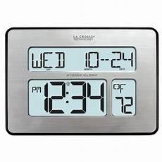 digital wall clock atomic full calendar extra large digits adjustable back light 618125326938 ebay