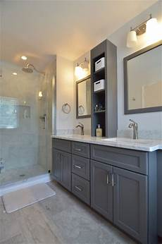 classic white and gray bathroom renovation transitional bathroom philadelphia by dremodeling