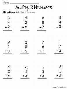 1st grade math worksheet adding 3 numbers adding 3 numbers activities and worksheets mega pack