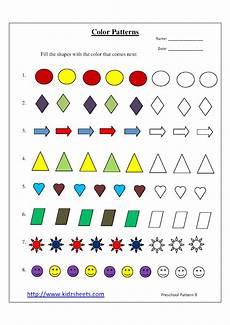 color patterns worksheets 53 kidz worksheets preschool color patterns worksheet9