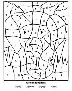 color by number worksheets 16131 free color by numbers worksheets activity shelter