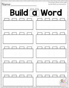 build a sight word plus recording sheet sight words