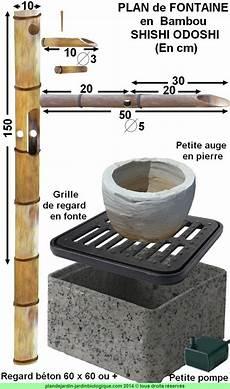 Faire Une Fontaine En Bambou Plan De Montage D Un Shishi