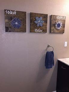 diy bathroom wall string to add a pop of color