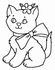 Gambar Mewarnai Kucing Gambar Mewarnai Lucu