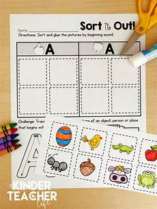 sorting worksheet for kindergarten 7907 free phonemic awareness sorting worksheets a kinderteacher