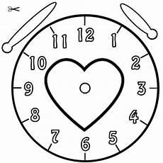 Malvorlage Uhr Lernen Kostenlose Malvorlage Uhrzeit Lernen Ausmalbild Herz Zum