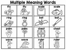 multiple meaning words for third graders multiple