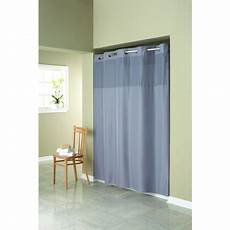 Hookless Mystery Shower Curtain hookless grey mystery polyester shower curtain