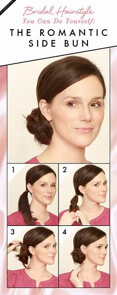 bridal hairstyle you can do on yourself the romantic side
