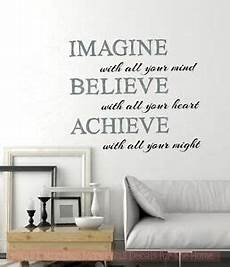 inspirational wall sticker quotes imagine believe achieve inspirational wall sticker