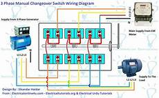 3 phase manual changeover switch wiring diagram for generator electrical online 4u