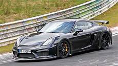 porsche gt4 rs porsche cayman gt4 rs spied exercising flat six at nurburgring