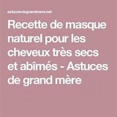 Recette De Masque Naturel Pour Les Cheveux Tr 232 S Secs Et