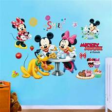 mickey minnie mouse wall sticker for kids rooms 25 70cm wall stickers decoration ebay