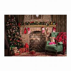 merry christmas 3x5ft retro christmas fireplace studio photo backdrop props
