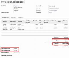 discount on sales and invoice odoo apps