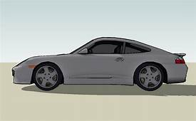 3D Model Of The Sports Car Porsche