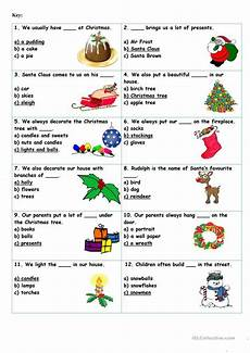 christmas vocabulary quiz worksheet free esl printable