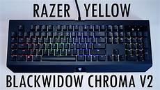 razer blackwidow chroma v2 w razer yellow unboxing