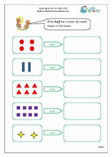 halving shapes worksheet eyfs 1106 halving small numbers 2 multiply and divide maths worksheets for year 1 age 5 6