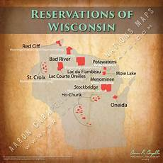 reservations of wisconsin 22 quot x22 quot