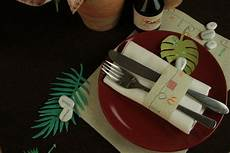 Tischsets Selber Machen - besteckbanderole tischset selber machen