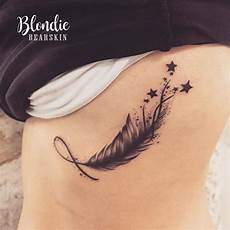 feather tatoo tatouage feather plume etoiles