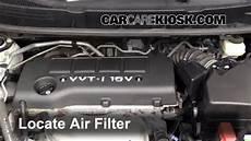 2009 2010 Pontiac Vibe Engine Air Filter Check 2009