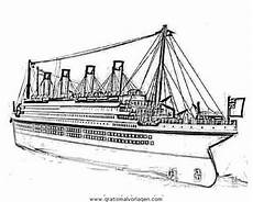 Gratis Malvorlagen Titanic Titanic 02 Gratis Malvorlage In Boote Transportmittel