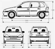 opel corsa abmessungen opel corsa 1998 blueprint free blueprint for 3d