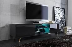 meuble tv banc tv rivano 140 cm noir mat noir