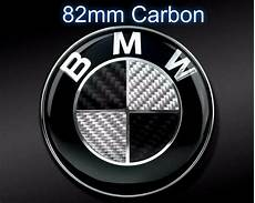 82mm bmw carbon black white emblem or trunk e46 e60