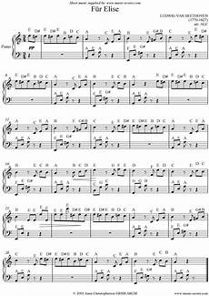 f 252 r elise 1st theme easy piano sheet music notes by ludwig beethoven piano