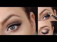 Augen Make Up Blaue Augen - make up f 252 r blaue augen bronze glitter make up tutorial