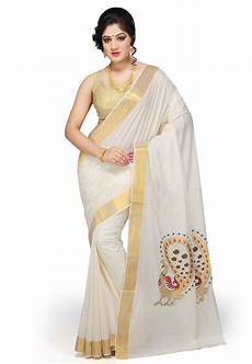 kerala saree style kerala saree saree market kerala saree cream colour