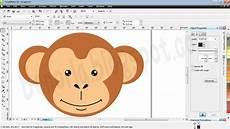 Benorla Membuat Kartun Sederhana Wajah Monyet Menggunakan