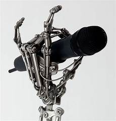 custom mic stands biomechanical mike stand gets a gleaming grip wired