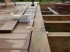 pose terrasse bois construction d une terrasse en bois pose des lames de bois