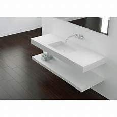 Plan Vasque Mural Blanc Mat Soho Solid Surface 224 Suspendre