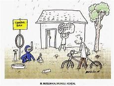 Tambal Ban Anti Banjir Media Karikatur