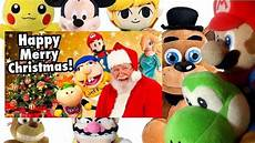 sml movie happy merry christmas mario freddy s reaction pikachu link wario yoshi