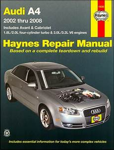 online car repair manuals free 2012 audi s4 navigation system audi a4 sedan avant cabriolet repair manual 2002 2008 haynes