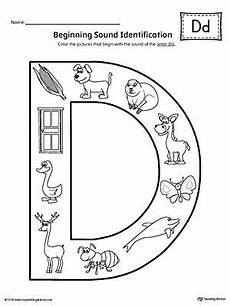 free phonics worksheets letter d 24185 letter d beginning sound color pictures worksheet with images letter d worksheet alphabet