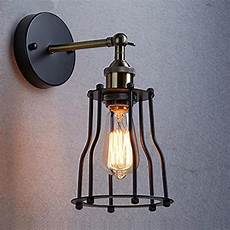 2019 industrial edison vintage wall sconce l 1 light wire cage shade featured l for