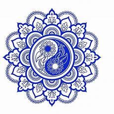 Mandala Yin Yang Flowers Reusable Stencil A3 A4 A5