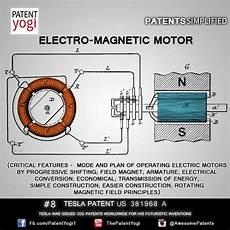nikola tesla patent 8 electro magnetic motor us