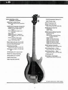 Gibson Ripper Bass Guitar Parts Lists Gt Gt Flyguitars