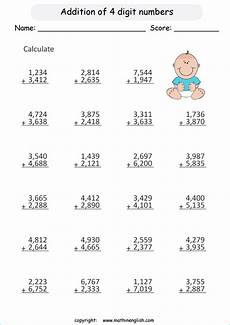 maths addition worksheets for grade 3 9240 4 digits by 4 addition printable grade 3 math worksheet