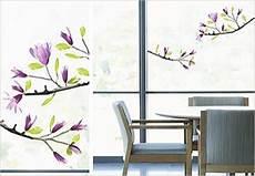 Dekorfolie Für Fenster - fensterdeko fensterfolie fenstersticker magnolien 24 x